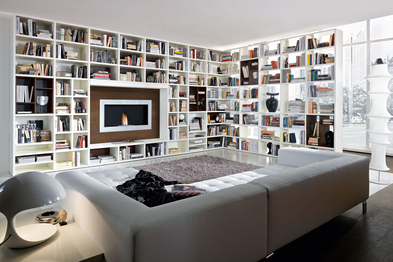 Kiko Arredamenti Soggiorno Libreria Bianca Divisorio Evelin Sozzi Gestioni Immobiliari